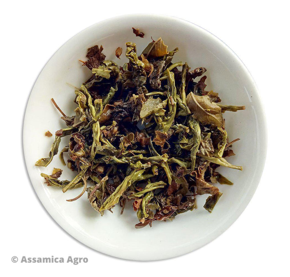 Organic Tulsi Green Tea: Tulsi Green Sensation - Wet Leaves
