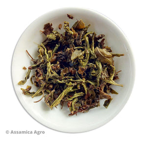 Load image into Gallery viewer, Organic Tulsi Green Tea: Tulsi Green Sensation - Wet Leaves