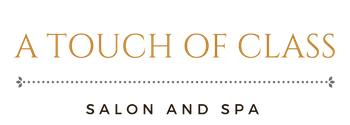 a touch of class hair salon logo