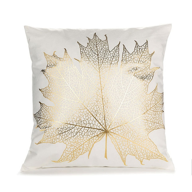 Golden Pattern Cushion Covers