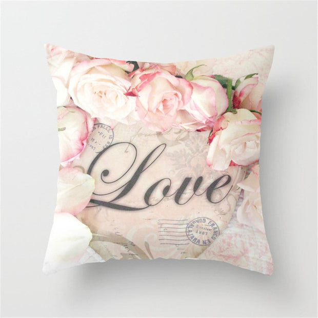 Cushion Covers of Flower Pattern