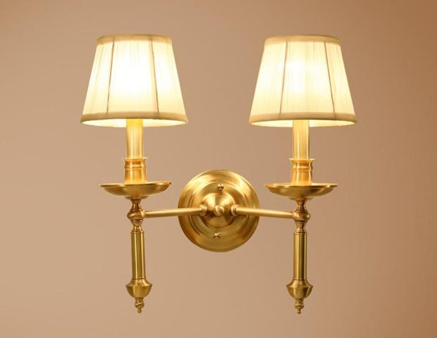 Vintage Double Copper Wall Lighting