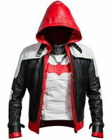 Batman Arkham Knight Red Hood Jacket Superhero Faux Leather Jacket And Vest