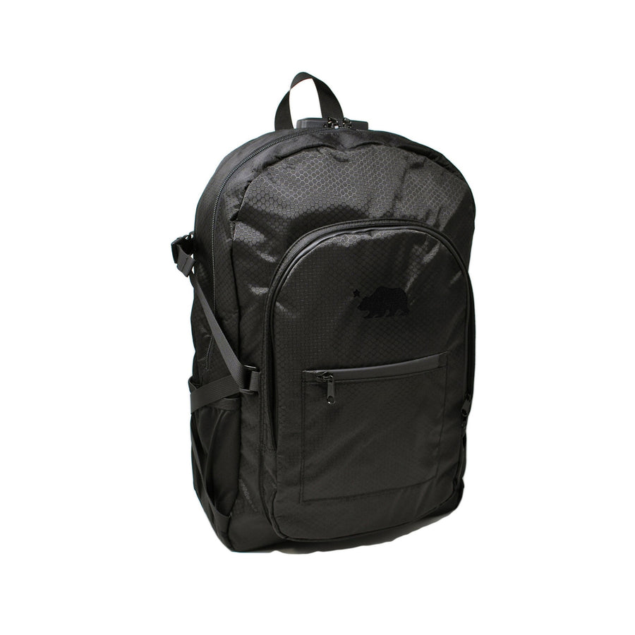 Black backpack black logo