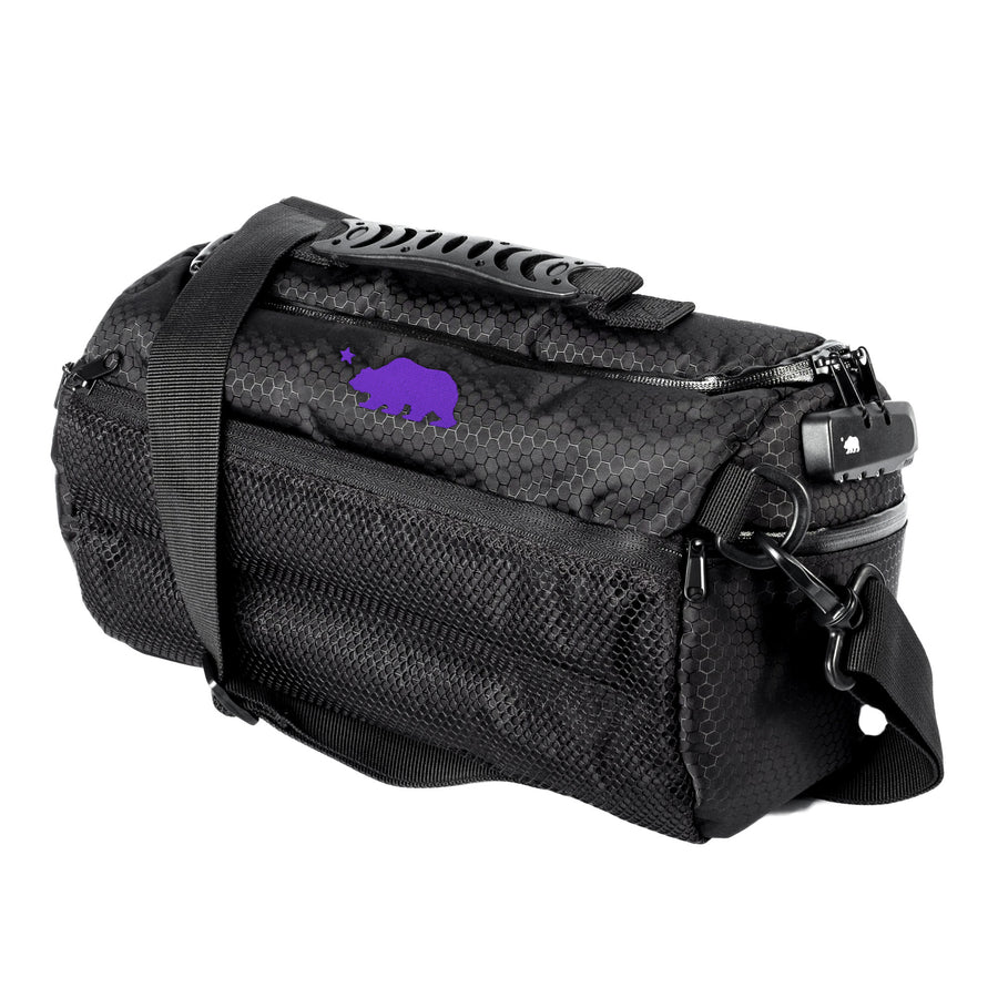 Small duffle purple logo