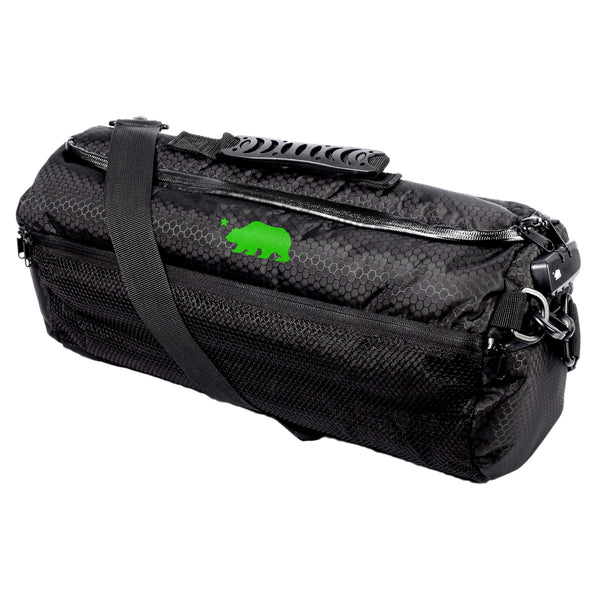 Large duffle green logo
