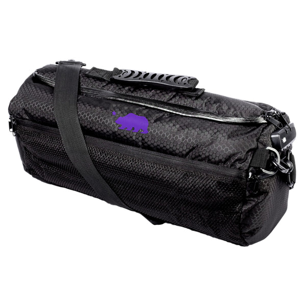 Large duffle purple logo