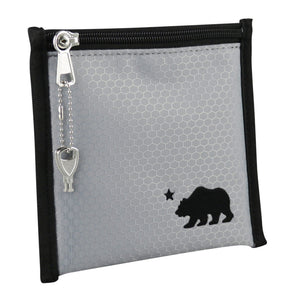 Small gray pouch black logo