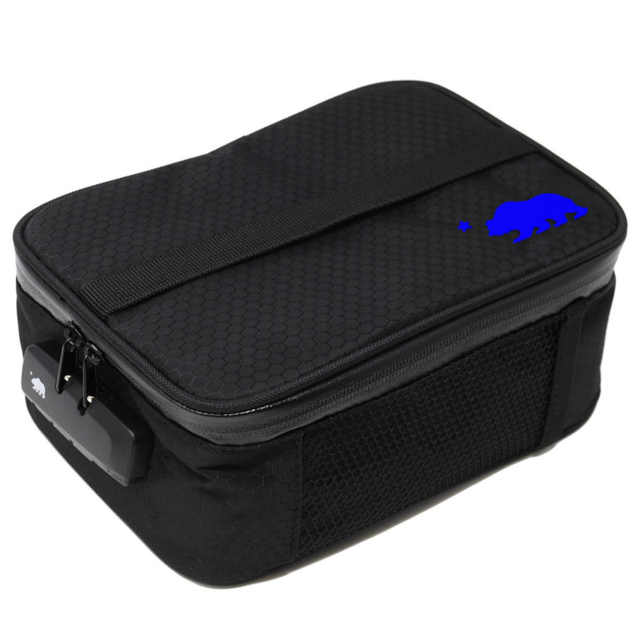 Large black soft case blue logo