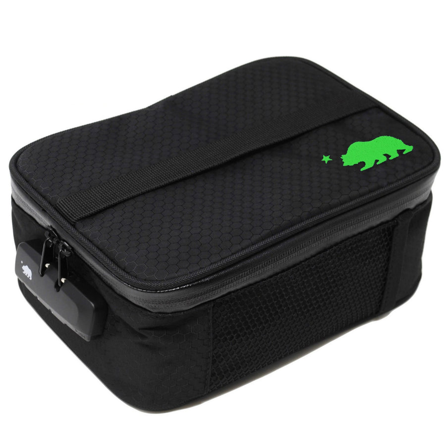 Large black soft case green logo