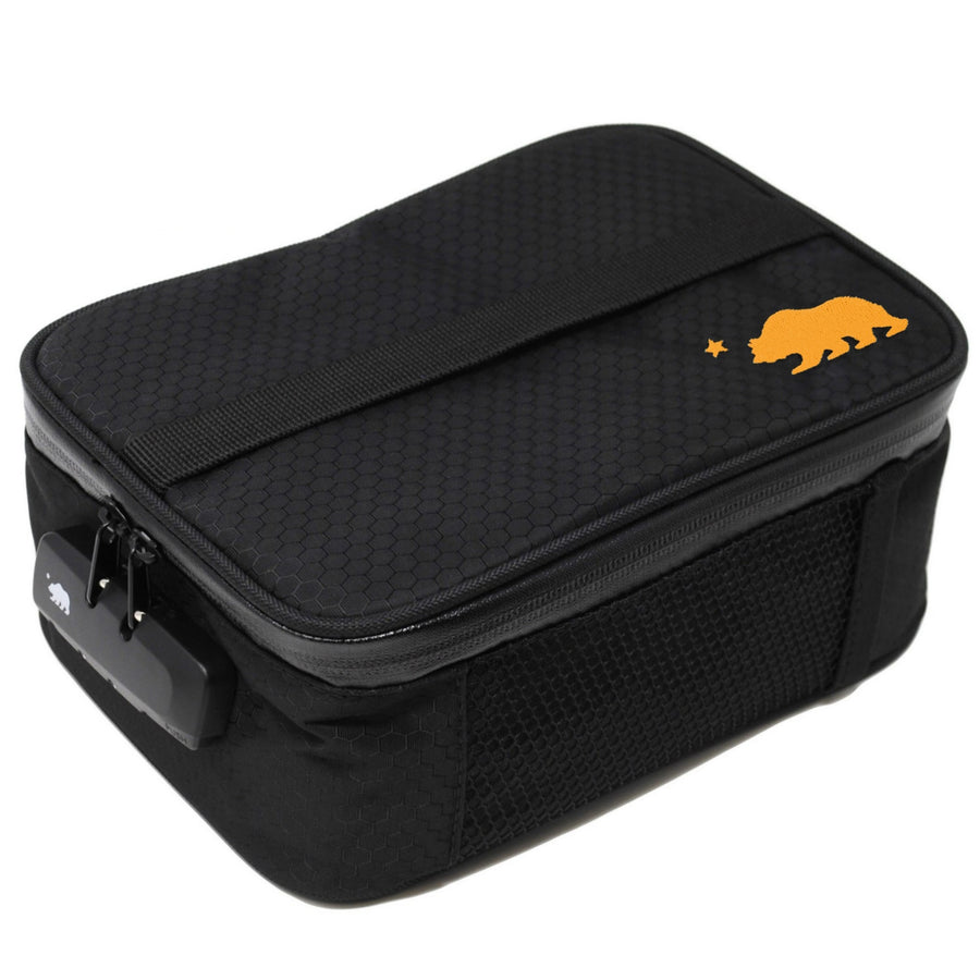 Large black soft case orange logo