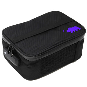 Large black soft case purple logo
