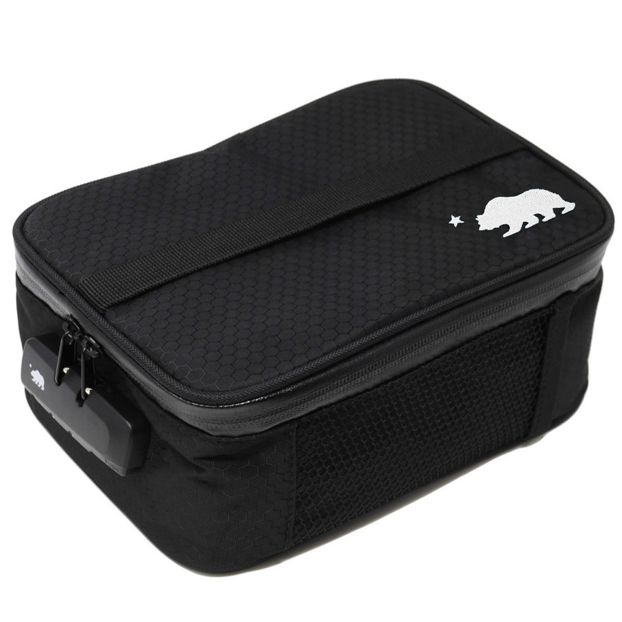 Large black soft case white logo