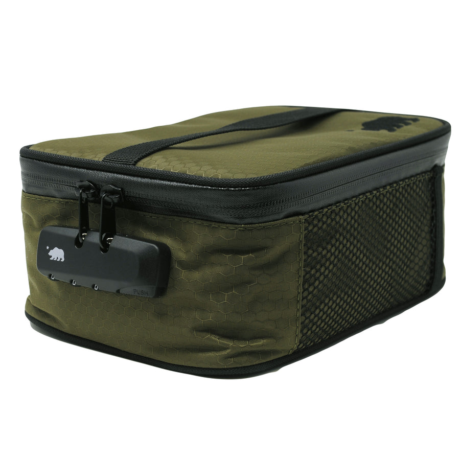 Large olive green soft case lock