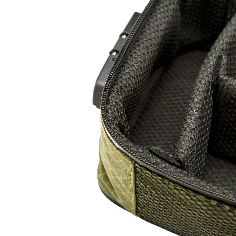 Large olive green soft case padding