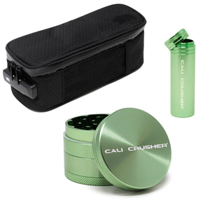 "Sm soft case + Green 2"" + Green storage"