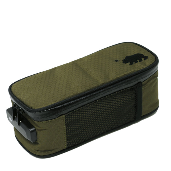 Small olive green case