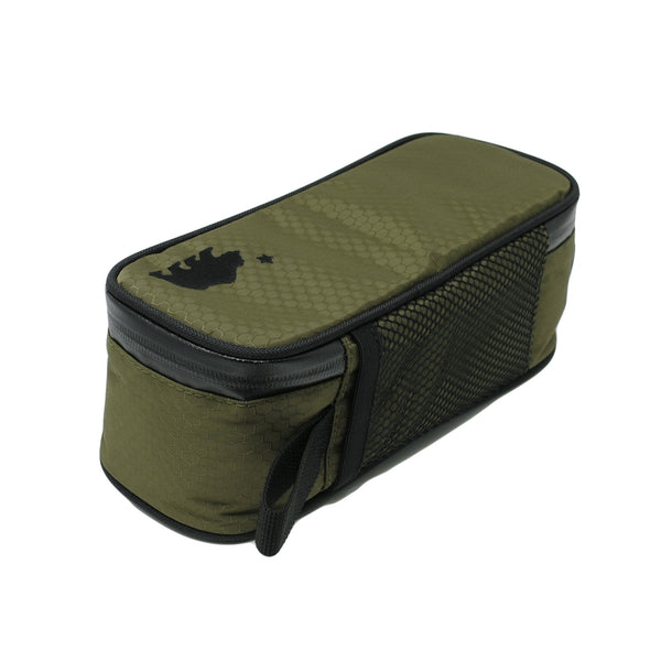 Small olive green case back