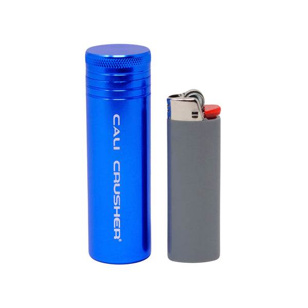 Blue pocket storage with lighter