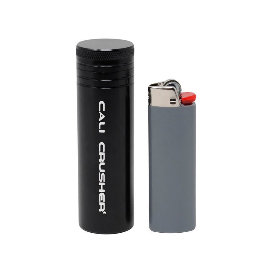 Black pocket storage with lighter