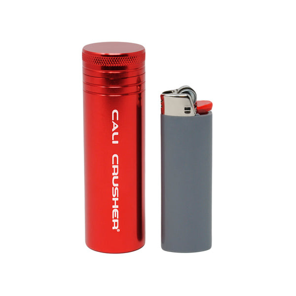 Red pocket storage with lighter