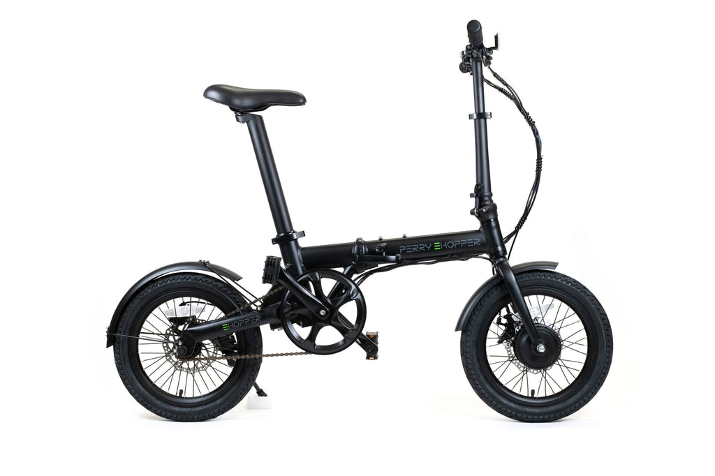 "PERRY eHopper 16"" Folding Electric Bike - BLACK"