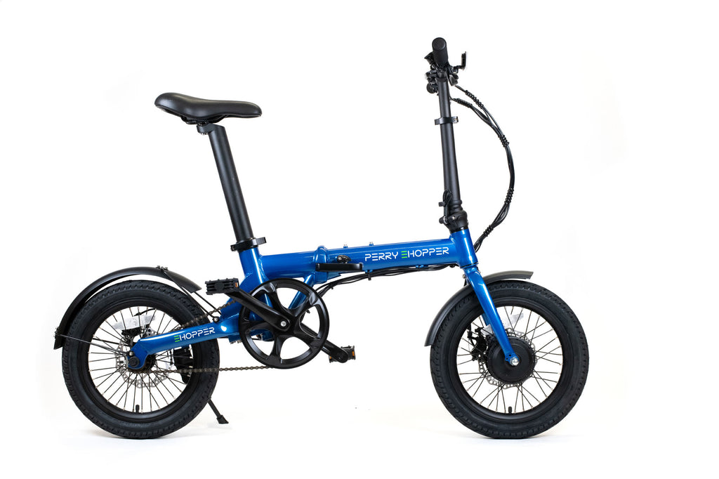 "PERRY eHopper 16"" Folding Electric Bike - BLUE"