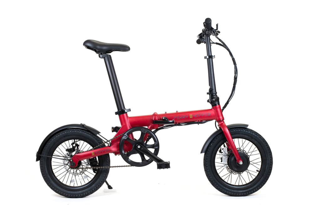 PERRY eHopper 16 inch Folding Electric Bike - RED