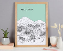 Load image into Gallery viewer, Personalised Amalfi Coast Print