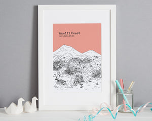 Personalised Amalfi Coast Print-1