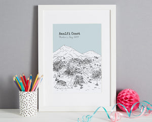 Personalised Amalfi Coast Print-5