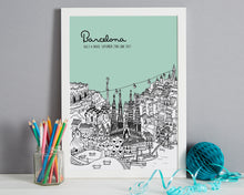 Load image into Gallery viewer, Personalised Barcelona Print-5