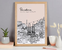 Load image into Gallery viewer, Personalised Barcelona Print