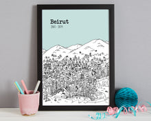 Load image into Gallery viewer, Personalised Beirut Print-6