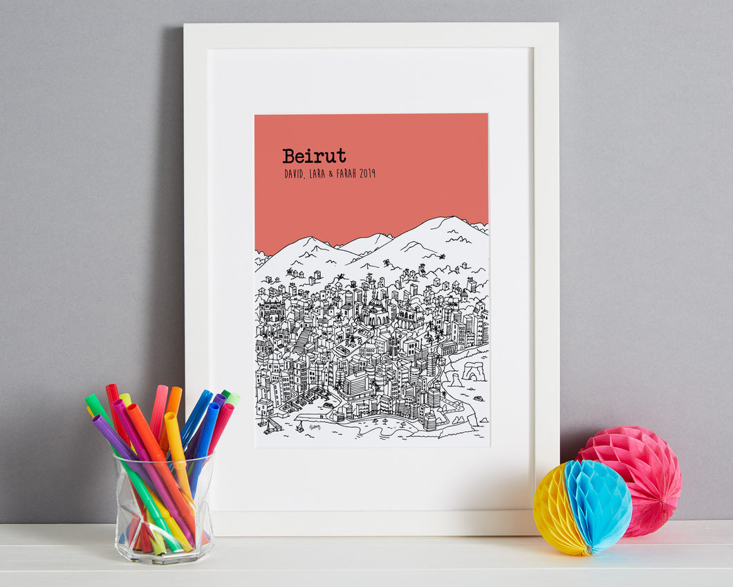 Personalised Beirut Print-1