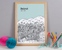 Load image into Gallery viewer, Personalised Beirut Print