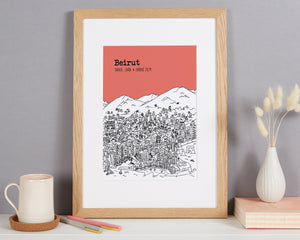Personalised Beirut Print