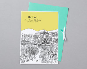 Personalised Belfast Graduation Gift