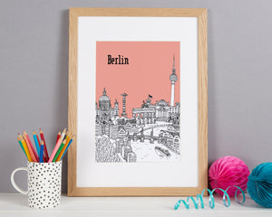 Personalised Berlin Print