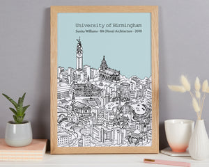Personalised Birmingham Graduation Gift