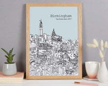 Load image into Gallery viewer, Personalised Birmingham Print