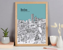 Load image into Gallery viewer, Personalised Boston Print