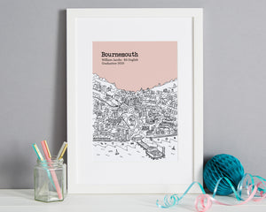 Personalised Bournemouth Graduation Gift