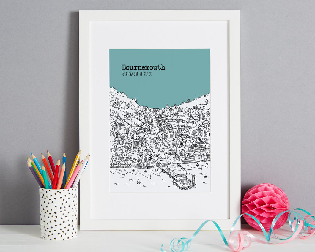 Personalised Bournemouth Print-1