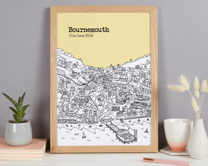Personalised Bournemouth Print