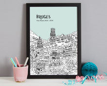 Load image into Gallery viewer, Personalised Bruges Print-3