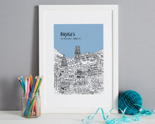 Load image into Gallery viewer, Personalised Bruges Print-1