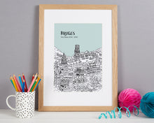 Load image into Gallery viewer, Personalised Bruges Print