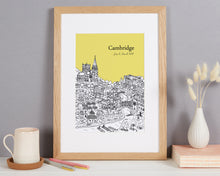 Load image into Gallery viewer, Personalised Cambridge Print