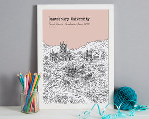 Personalised Canterbury Graduation Gift